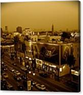 Walk Of Fame Hollywood In Sepia Canvas Print