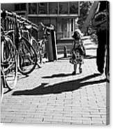 Walk Safely Little Girl  Canvas Print