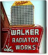 Walker Radiator Works Sign Canvas Print