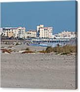 Walking Along Cocoa Beach Canvas Print