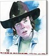 Walking Dead Carl Canvas Print
