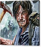 Walking Dead Sketch Cover Daryl Canvas Print