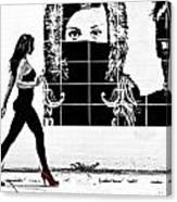 Walking Girl Canvas Print