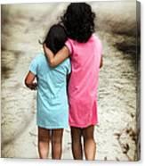 Walking Girls Canvas Print
