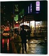 Walking Home In The Rain Canvas Print
