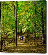 Walking In The Forest Canvas Print