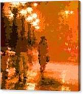 Walking In The Rain 02 Canvas Print