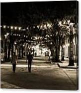 Walking In The Stockyards Canvas Print