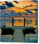 Walking Into The Sunset Canvas Print