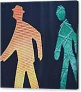Walking Man Symbol Canvas Print