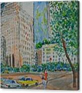 Ny Near The Plaza Canvas Print