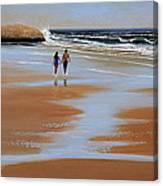 Walking The Beach Canvas Print