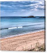 Walking The Beach On A Peaceful Morning Canvas Print