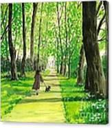 Walking The Scottie Canvas Print