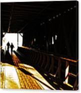 Walking Through History - Elizabethton Tennesse Covered Bridge Canvas Print