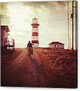 Walking To The Lighthouse Canvas Print