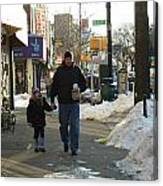Walking With Dad Canvas Print