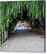 Walkway By The River Canvas Print