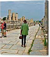 Walkway To Harbor In Ephesus-turkey Canvas Print