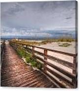 Walkway To The Beach At Romar Access Canvas Print