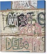 Wall Art Graffiti Concrete Walls Casa Grande Arizona 2004 Canvas Print