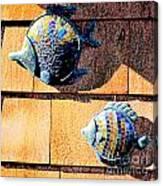 Wall Fish Canvas Print