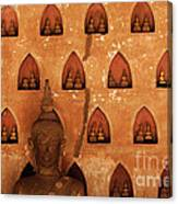 Wall Of Buddhas Canvas Print