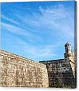 Wall Of Cartagena Colombia Canvas Print