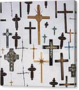 Wall Of Crosses Canvas Print