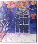 Wall Of Hydrangea Canvas Print