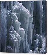 wall of ice in Partnach gorge 3 Canvas Print