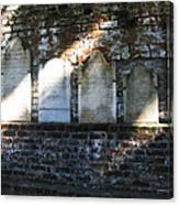 Wall Of Tombstones Knocked Down During Civil War Canvas Print