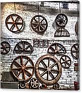 Wall Of Wheels Canvas Print