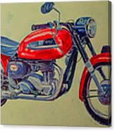 Wall Painted Motocycle Canvas Print