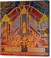 Wall Painting 3 At Wat Suthat In Bangkok-thailand Canvas Print