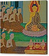 Wall Painting 3 In Wat Po In Bangkok-thailand Canvas Print