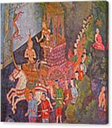 Wall Painting At Wat Suthat In Bangkok-thailand Canvas Print