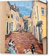 Wall Painting In Provence Canvas Print