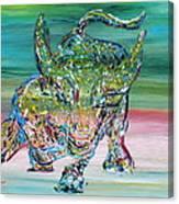 Wall Street Bull Canvas Print