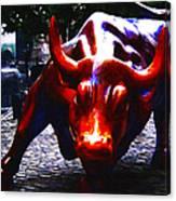 Wall Street Bull - Painterly Canvas Print