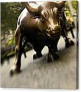 Wall Street Bull Canvas Print