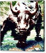 Wall Street Bull - Typography Canvas Print