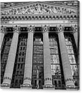 Wall Street New York Stock Exchange Nyse Bw Canvas Print