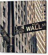 Wall Street Sign Canvas Print