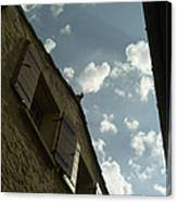Wall With Clouds Canvas Print