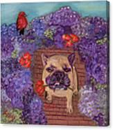 Wallace In The Garden Canvas Print