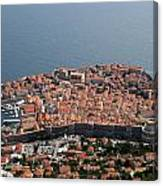 Walled City Of Dubrovnik Canvas Print