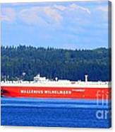 Wallenius Wilhelmsen Logistics Tamerlane Ship Canvas Print