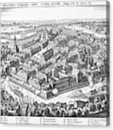 Wallenstein's Army Besieges  Leipzig Canvas Print
