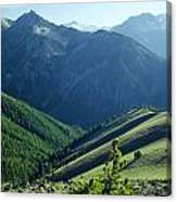 1m5903-wallowa Mountains And Valley Of The East Fork Canvas Print